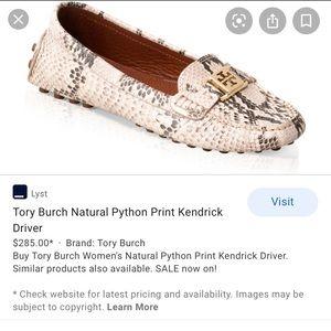 PYTHON TORY BURCH LOAFER